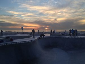 Venice Beach Skate Park Sunset