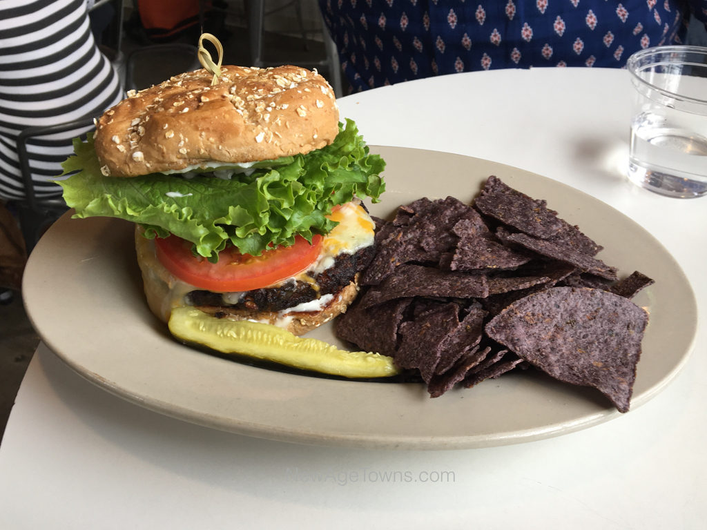 Black Bean Burger - Natural Sisters Cafe, Joshua Tree