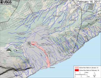 Kilauea lava flow Feb 16 2016 (USGS)