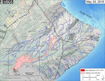 Kilauea lava map May 25 2016 (USGS)